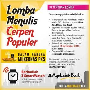 LOMBA MENULIS CERPEN POPULER 2015 BERHADIAH 3 SmartWatch